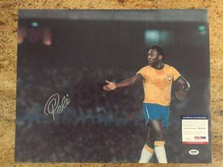 Pelé - signed picture with COA