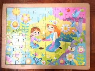 Mom & Daughter Wooden Jigsaw Puzzle