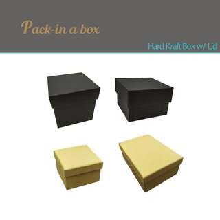 Hard Kraft Box w/lid Jewellery Gift E Commerce Mailing Parcel Packaging