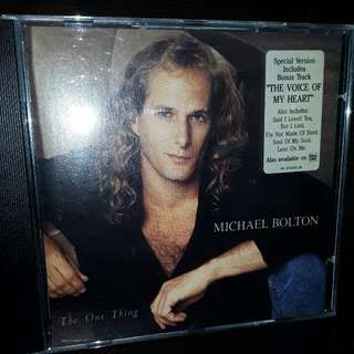 English CD Michael Bolton the one thing
