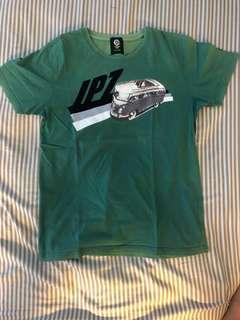 Ipz tshirt ukuran s warna hijau