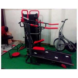 Treadmill Manual 6 Fungsi Alat Olahraga Fitness Lari Pembakar Kalori Tubuh