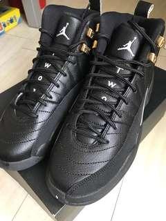 Nike Air Jordan 12 Retro BG 限量版黑色 us6.5 ,23cm