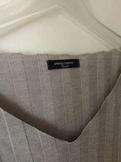 🚚 韓 大坑條紋細針織上衣