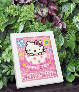 DIY diamond Hello Kitty frame for kids