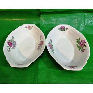 Vintage Peony boat type soup bowl 2 pieces, in mint condition