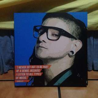 Skrillex pop art [INCLUDE ONGKIR INDONESIA]