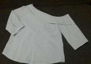 Plains & Prints blouse