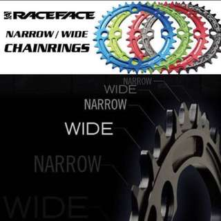 Raceface Narrow Wide 32-38T Chain Ring 104 BCD