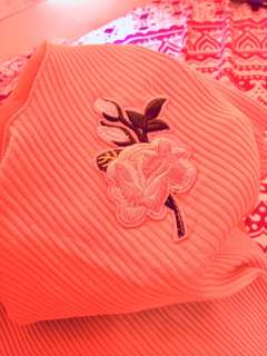 Floral top (embroidered flower)