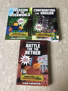 Gameknight999 Minecraft series book 1,2 and 3