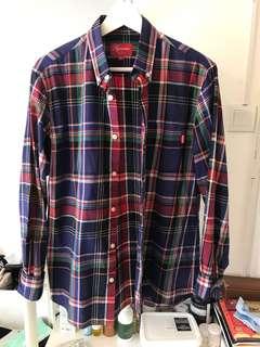 Supreme tartan longsleeve shirt