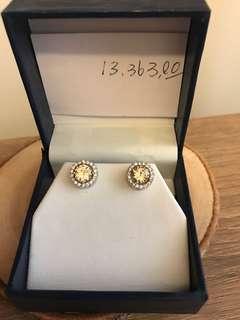 人做鑽石💎黃鑽1·5克拉耳環