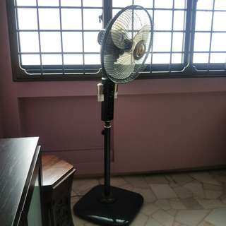Standing Fan with Lamp