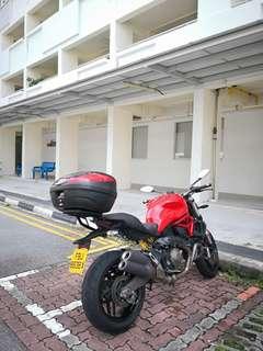 Ducati monster 821. Red End 2014.