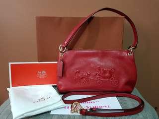 Authentic Coach Shoulder/Crossbody Leather Bag