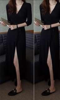 Bn Black long wrap dress