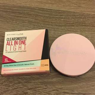 Maybelline Clear and Smooth All in One light 9gr SPF20