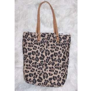 Leopard print bags