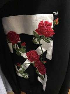 offwhite rose hooded zipper size M 原價5xxx