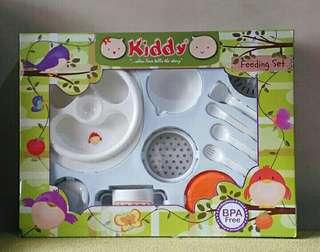 Mpasi FEEDING SET Kiddy + versi lengkap plus foodmaker