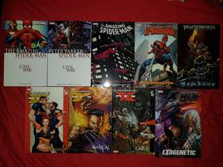 Assorted comics (spider-man, transformers, X-Men)