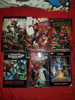 Assorted comics (justice league, x-men, spider-man)