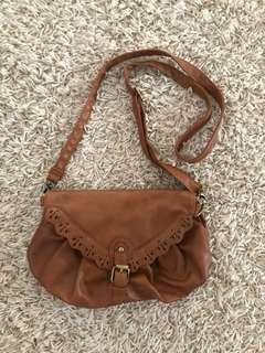 Brown side bag
