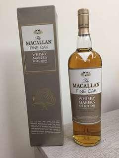 (1公升)Macallan maker's selection fine oak 舊裝