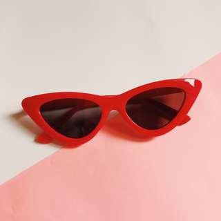 Red Retro Cat Eye Sunglasses Cateye Sunnies