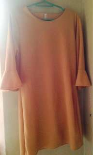 Pastel peach dress