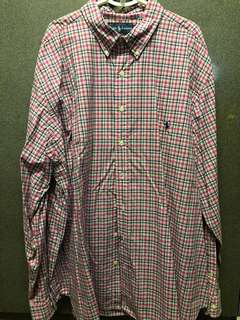 Ralph Lauren Pink Checkered Shirt Size 2XB (big) (Mens)