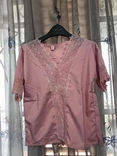 Pink sorbet lace top