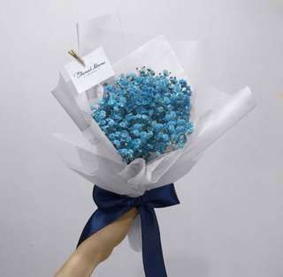 Coloured baby breath bouquet