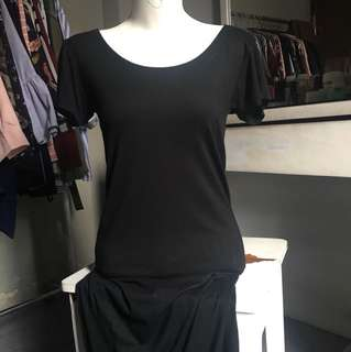 Simple black fitted dress / hnm h&m inspired