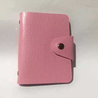 Baby Pink Leather Card Holder