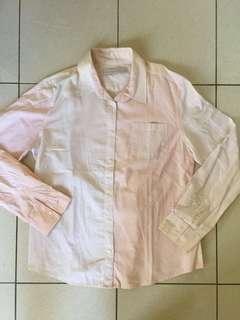 Kemeja GIORDANO ORIGINAL ASLI Pink Peach XL