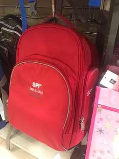 全新SPI 紅色書包 (細碼適合一至三年級)