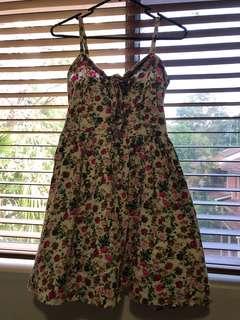 Floral mini dress/top