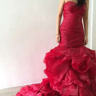 Wedding Gown (Red Colour)
