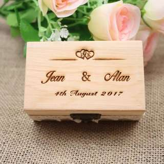 Wedding Ring Box - Personalized