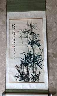 Original hand painted bamboo