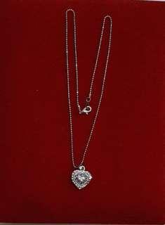 Kalung perak liontin jewel kombinasi putih cantik