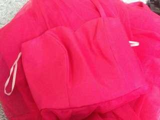 Dark Pink Ball Gown