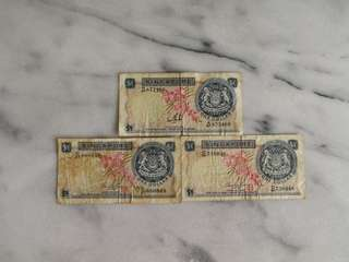 Singapore orchid series $1 currency note (1 pc)币