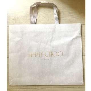 JIMMY CHOO paper shopping bag 名牌購物紙袋