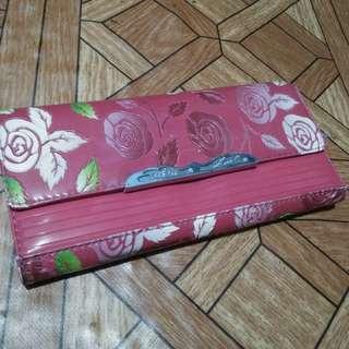 Floral Red Wallet