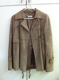 Leather Spring Coat