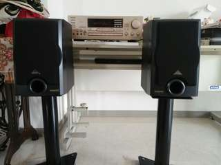 Original Onkyo karaoke Amp and Pioneer 3 ways Speakers with Special make sand filled and Stainless Steel spikes stand
