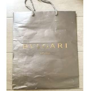 Bvlgari Bulgari medium size paper shopping bag 名牌購物紙袋